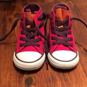 NWOT Converse hightops, size 6T